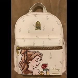 Loungefly Disney Beauty & Beast Mini Backpack New!